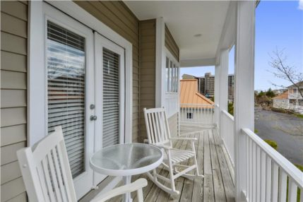 The balcony off the master bedroom is ideal for a morning cup of coffee.